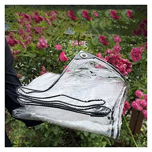 MAHFEI Lona Impermeable Resistente, con Ojales Toldos Impermeables Alta Transparencia Lonas De PVC Resistencia Al Desgarro para Plantas De Jardín Cubiertas Invernaderos, Marquesinas