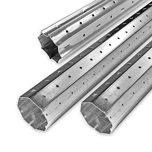 3,0 m bis 4,0 m Achtkant Rolladenwellen Set SW 60 verzinkt, Stahlwelle/Achtkantwelle, individuell kürzbar, Behangewicht bis max. 40 kg, von EVEROXX®