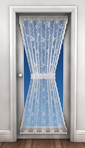 Ideal Textiles Spitzen-Türvorhang, Netzvorhang, inkl. Raffhalter, 114,3 x 182,9 cm, Weiß