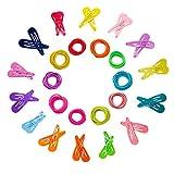 Haargummis für Babys, elastisch, 30 Stück, süßes Haarklammern, kein Knittern, für Kleinkinder, Kinder, Mädchen, dünnes Haar, kleiner Pferdeschwanz