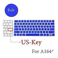 BluetoothワイヤレスキーボードMLA22LL / A1644 For MacキーボードカバープロテクターシリコーンカバーUS/EUバージョン-US-Key-H-