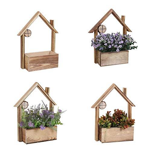 NLYWB Wandmontage Houten Plantenplank, Bloemplantenpotten Muurdecoratie, Ornament Huisdecoratie Drijvend Plank, Ideaal voor Drukke Levensstijlen