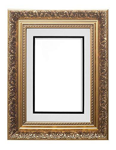 Memory Box Instagram Cadre Photo carré pour Photo ou Affiche de Style Ancien Doré/Blanc sur Noir 25,4 x 20,3 cm