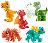 Prextex Flexible Cartoon Dinosaurs Twister Stocking Stuffers Dinosaur Toys - 5-Piece Set