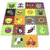 XMTMMD Tappeto Puzzle per Bambini in Soffice Schiuma Eva Tappetino Gioco per la Cameretta Tappeto Puzzle Eva Forme Musica Tappetino Gioco Bambini Tappetini AMT0612G3210