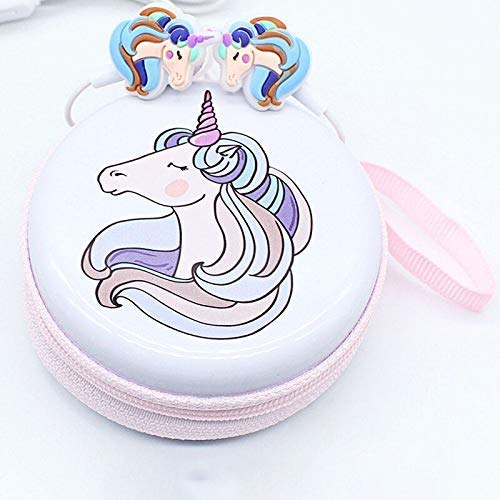 Stylie Modern Alternatives Unicorn Cartoon Wired Headphones Earphones with Carrying case Gamer Music Stereo Earbuds with MIC Outdoor Sport Running Headphones Kids Girl Gifts (01 Pc.)