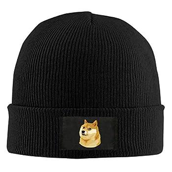 ChunLei Cute Face Doge Meme Unisex Warm Winter Wool Hat Knit Beanie Skull Cap Black