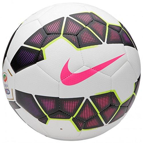 Nike Palla Pallone Serie A, White/Black/Pkflsh, 1, SC2406-164