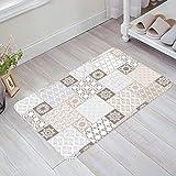 Felpudo decorativo marroquí, antideslizante, lavable en el barco, bienvenida, entrada, baño, decoración del hogar, remiendo bienvenida, alfombra absorbente antideslizante
