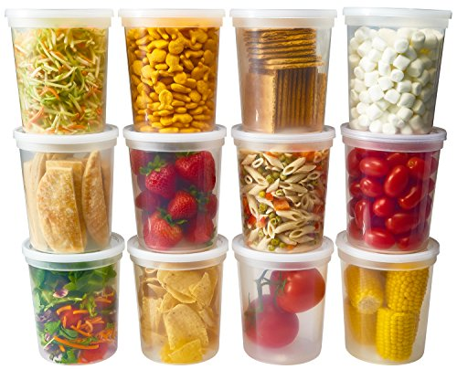 DuraHome - Deli Food Storage Containers with Lids 32 oz