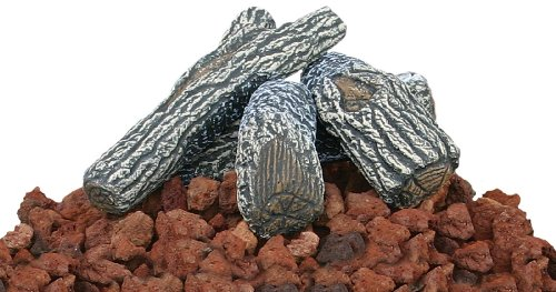Uniflame Lava Rock and Log Kit for Propane Fire Pits