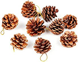 Decoris Hanging Pinecones Christmas Decoration Green 1 pk