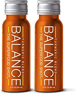 Ginger Turmeric Shot, Organic Cherry Ginger Shot w/Black Pepper, Curcumin, and 1/2 Day of Fruits & Veggies, 2oz Daily Superfood Post Workout Recovery Drink, Vegan & Gluten-Free (2 Pack)