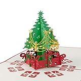 """Weihnachtskarte """"Weihnachtsbaum"""" hochwertig verarbeitet - Unglaublich detailreich und filigran - Kleines Weihnachtsgeschenk für große Freude - Mit Umschlag und Folie zum SOFORT VERSCHENKEN!"""