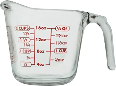 Anchor Hocking 92040PDQL13 55177OL13 16 Oz Measuring Cup, Clear