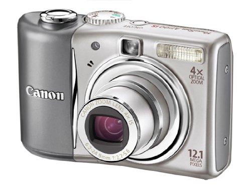 Canon PowerShot A1100 IS Digitalkamera (12 MP, 4-fach opt. Zoom, 6,4cm (2,5 Zoll) Bildschirm) silber