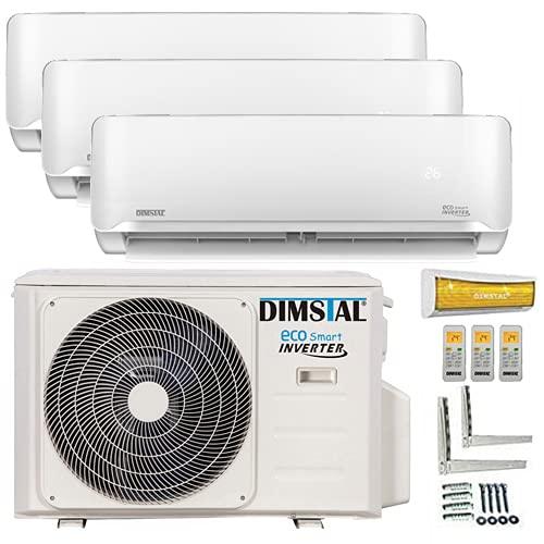 A++/A++/A++ TrioSplit Golden-Fin WiFi/WLAN-Ready 3x 2,6kW - 3x 9000 BTU MultiSplit Klimaanlage INVERTER Klimagerät und Heizung