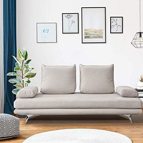 Sofa Couch Loveseat Sleeper Sofa Bed with Durable Waterproof Fabric and Removable Pillows for Living Room, Beige