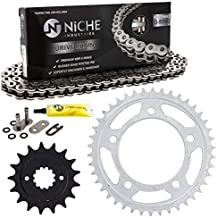 NICHE Drive Sprocket Chain Combo for Honda Shadow Spirit 750 Front 17 Rear 42 Tooth 525V O-Ring 122 Links