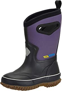MCIKCC Toddler Rain Boots, Warm Winter Boots Classic Rubber Boots Waterproof for Boys Girls Toddler and Youth
