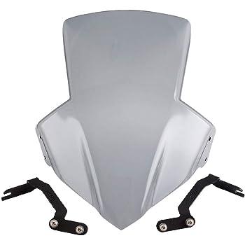 Almencla Motorrad Windschutzscheibe Windabweiser Windschild Verkleidung f/ür Honda CB650F Grau