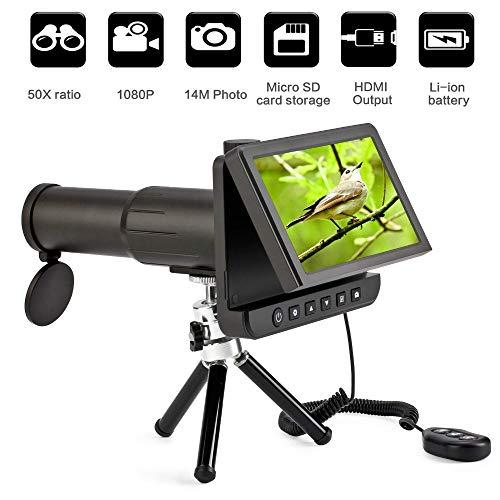 SanyaoDU 5.0 Inch LCD Digitale Monoculars Verrekijker Camera 50X 1080P Video Foto Recorder Telescoop voor Kijken