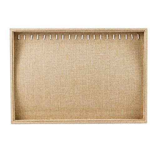 HooAMI[ホーアムアイ] ネックレス ディスプレイ 麻布 アクセサリー トイレ ジュエリー収納 展示用 34.5*24*3cm
