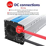 Photo #3: 5000 Watt Super Heavy Duty Power Inverter for Truck with Remote Control and LCD Display and 4 AC Sockets Dual USB Ports