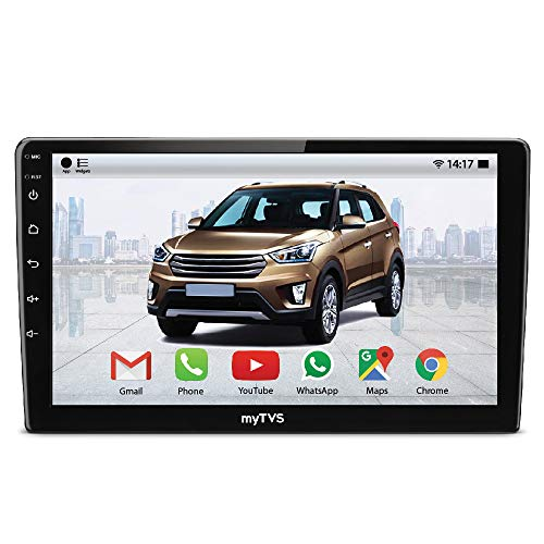 myTVS AP-92 2GB Touch Screen Double Din Car Stereo MP5 Android(10.1) Car Player with Navigation/GPS/WiFi/Bluetooth Full HD 1024 * 600P/16GB Inbuilt Memory for Honda WRV