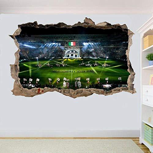 Yxsnow 3D Wandaufkleber Football Stadium 3D Wandtattoo Tapeten 3D- Selbstklebende Vinyl Wandsticker/Wandgemälde Kunst Aufkleber