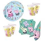 Peppa Pig - Set de fiesta para 8 invitados, platos, vasos y servilletas (36 piezas)