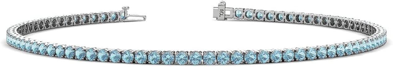 Best aquamarine 14k white gold tennis bracelet Reviews