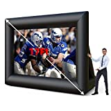 Nurxiovo 17ft Inflatable Movie Projector Screen Outdoor, Projection Screen with Bag, Blower, Strings, Stakes for Outdoor Backyard Movie Parties Pool Lawn Event, Inflatable Movie Screen (17FT)