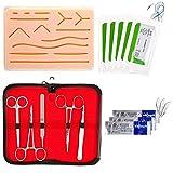 Crazyfly - Kit de sutura todo incluido, equipo de entrenamiento perfecto para desarrollar y perfeccionar técnicas de sutura