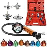 AllRight 15PCS Kit de Test de Pression Radiateur Système Testeur Liquide de Refroidissement Auto Outil de Suppression Rouge