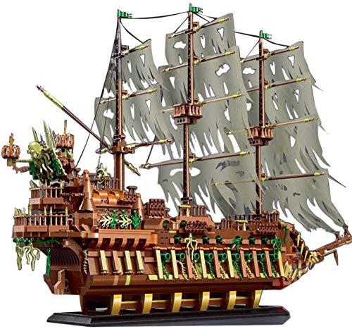 Modelo de Barco Pirata, Mold King 13138, Barco de Vela Flying Dutchman,...