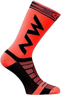 Hieefi, 2pcs Calcetines De Deporte De Atletismo Al Aire Libre De Algodón Baloncesto Calcetines De Ciclismo Running Marathon (Rojo)