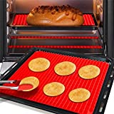 Top Pyramid Pan Healthy Silicone Mat for Cooking 16 x 11 inches Large Red Pyramid Form for ice Baking and Roasting Superb Non-Stick Food Grade Silicone Dishwasher Safe Series bakery products