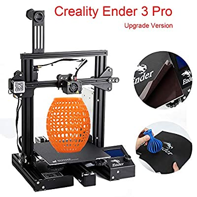 """Creality Ender 3 Pro DIY 3D Printer with Removable Magnetic Bed and UL Certified Power Supply 8.6"""" x 8.6"""" x 9.8"""""""