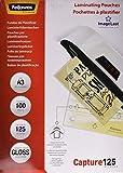 Fellowes ImageLast - Pack de 100 fundas de plastificar formato A3, 125 micras...
