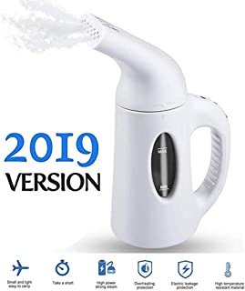 Steamer for Clothes, 7 in 1 Multi Use clothes steamer-handheld, 120ml Fabric Steamer for Home and Travel/40 Seconds Fast Heat-up Power 850W,Compact Fabric and Clothing Wrinkle(White,2019 Upgraded)