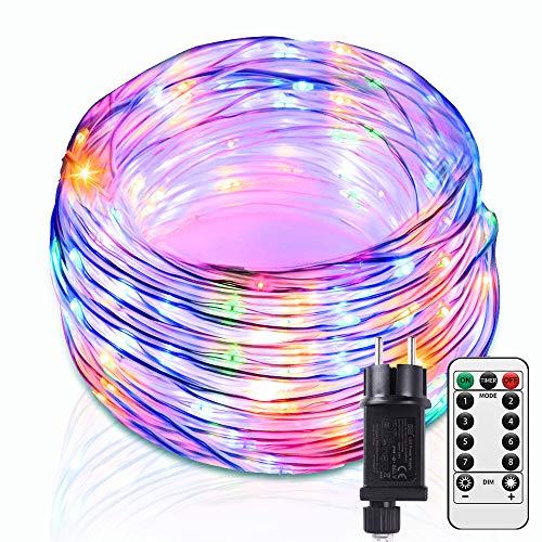 Lichtschlauch mit 250LED, Infankey 25M LED Schlauch mit Fernbedienung, Wasserdicht, Mehrfarbig-Lichterkette, Perfekt für Zuhause, Outdoor, Deko und Party