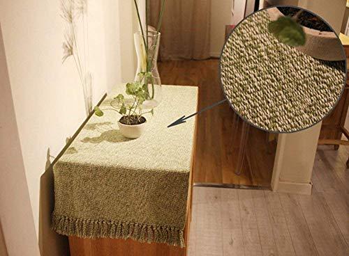 Tapis multi-usages antidérapant tissé à la main 100 % coton pour cuisine, salon, chambre à coucher avec sous-couche antidérapante Vert 45 x 70 cm