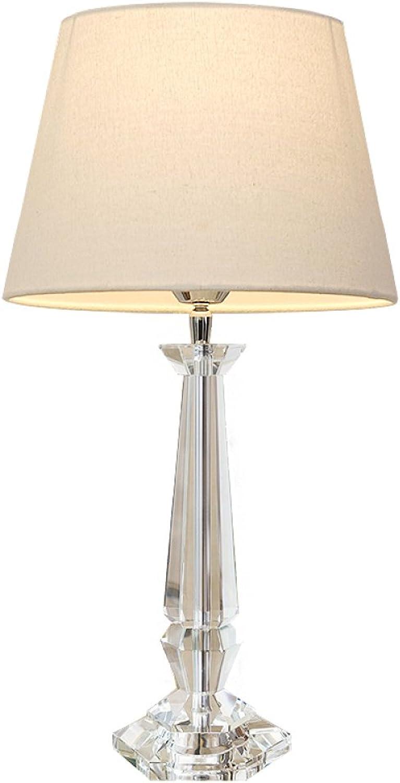 LRZZ Tischlampe, Schlafzimmer Nachttisch kreative europäische minimalistische minimalistische minimalistische Moderne warme Kristalllampe, Nordic Nachttischlampe,Beige beige,Tasten B07JVWY2RQ     | Komfort  f961b6