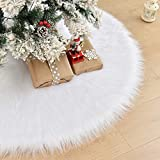 CELIVESGG 48' Christmas Tree Skirt Tree Skirt Double Layers a Fine Decorative Handicraft...