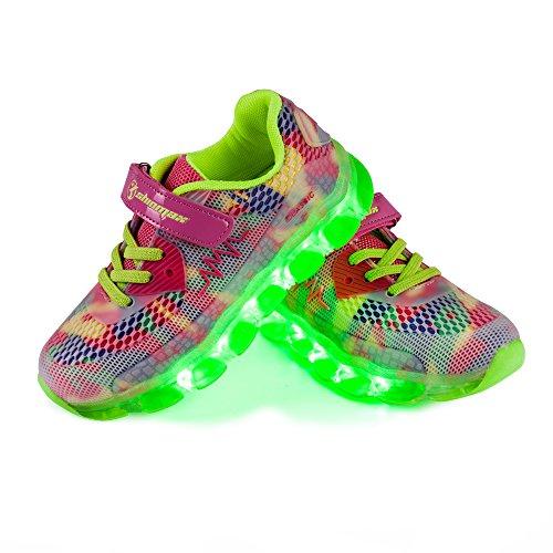 Shinmax - Zapatillas LED Para Niños, 7...