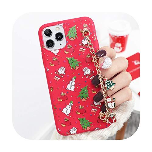 Moda Navidad Dibujos Animados Pulsera Teléfono Case Para iPhone 12 6 7 8 Plus XR X XS MAX SE Suave TPU Para iPhone 11 PRO MAX Coque-K1ho-sd4shu-Para iPhone 12 Pro