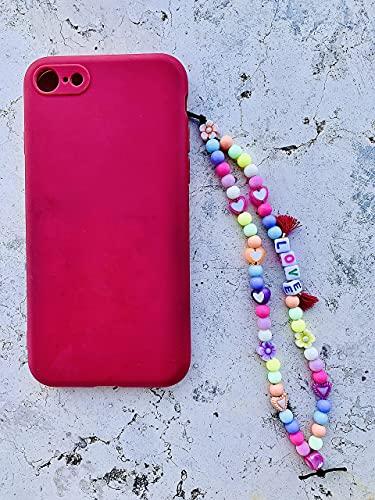 Phone strap perline charm Love, personalizzato con lettere e nome. Porta cellulare da polso e gioiello per il tuo telefono. Idea regalo fantastica