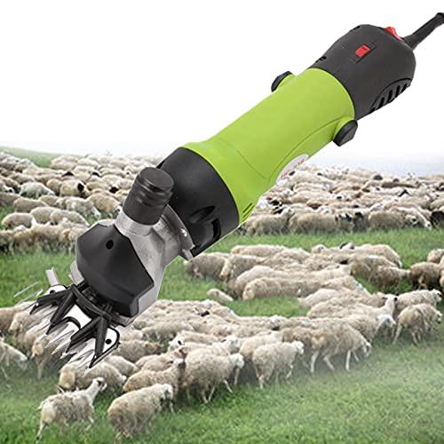 lxiluv Cortadora De Césped Cizalla Eléctrica De Alta Potencia De 6 Velocidades, con Variedad De Colores para Elegir, Sin Daños a Las Ovejas Ni Al Cabello(690w),Green