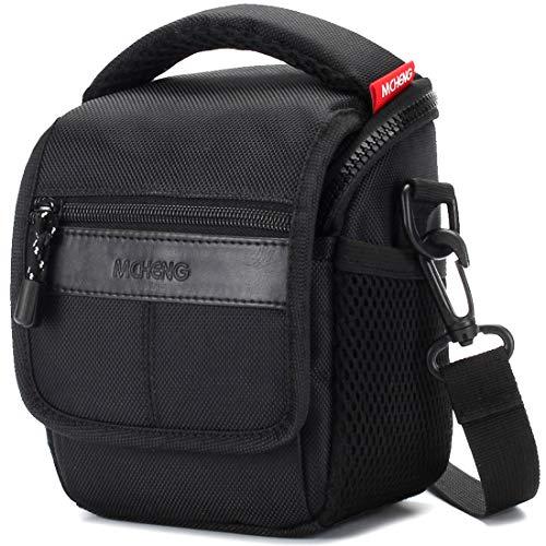 MCHENG Stoßfest Wasserdicht Kameratasche Universal Schultertasche für Digitalkamera Kompaktkamera Canon Nikon Sony, Schwarz
